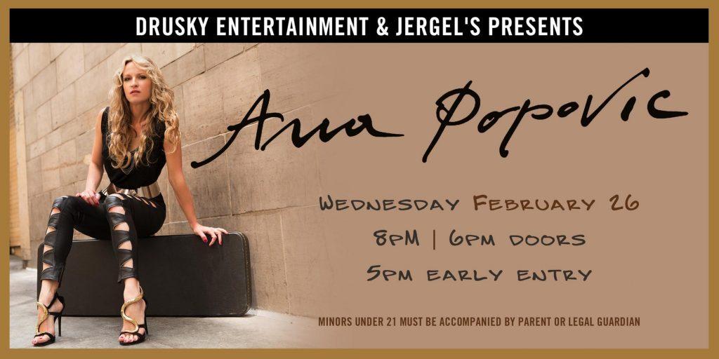 Anna Popovic @ Jergels show poster