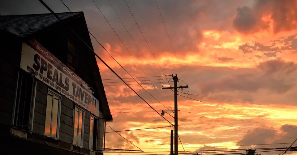 Sunset over Speal's Tavern